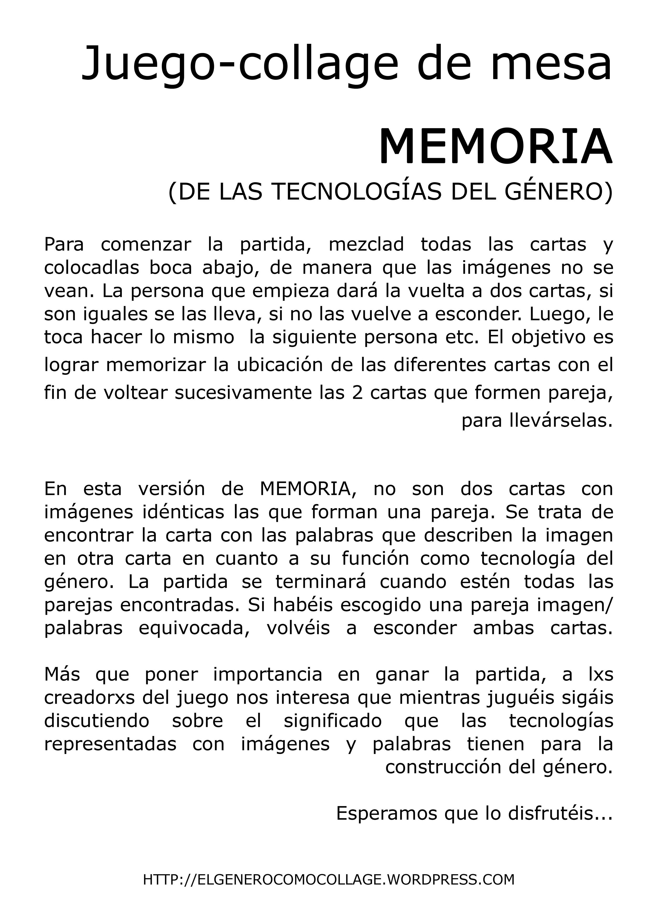 Memoria De Las Tecnologias Del Genero Parejas Imagen Texto